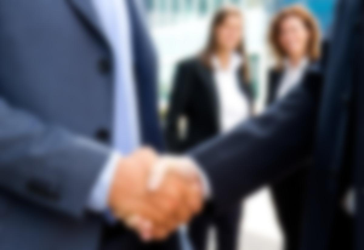 corporate handshake job